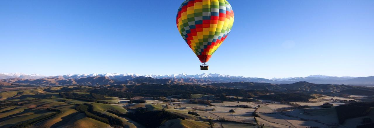 Hot air ballooning over Canterbury