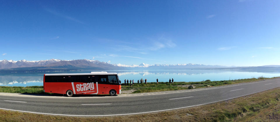 A Stray backpackers bus in South Island.