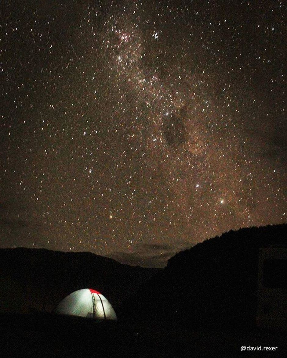 Campers take in the beautiful southern stars in the Aoraki/Mount Cook region.