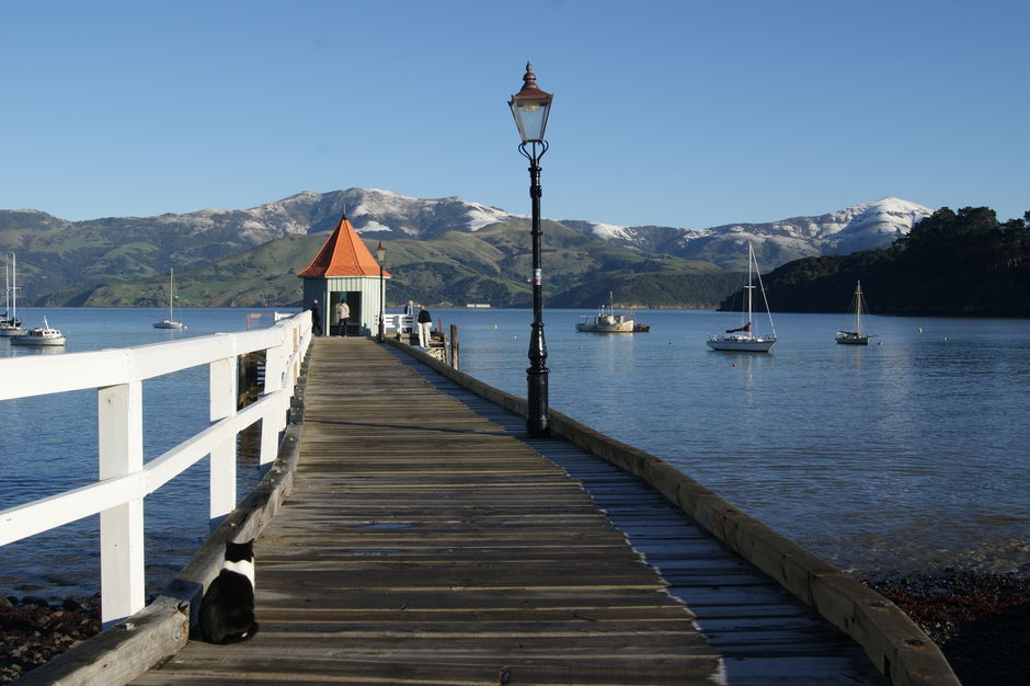 Winter in Akaroa is quiet and peaceful.