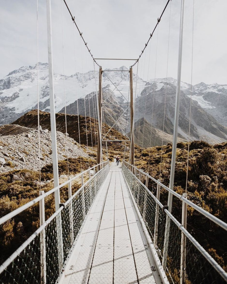 Hooker Valley Swing Bridge
