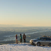 Enjoying the views over Canterbury from Mt Hutt