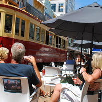 The historic Christchurch tram
