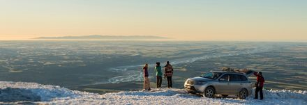 One of the many things travellers love about skiing in New Zealand is the long-range views across  valleys and river plains.