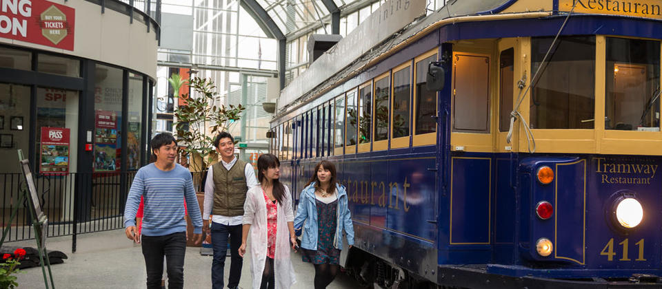 Ride the historic Christchurch Tram and enjoy the sites of the central city