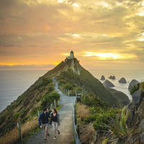 Nugget Point is one of the most distinctive landforms along the Otago coast