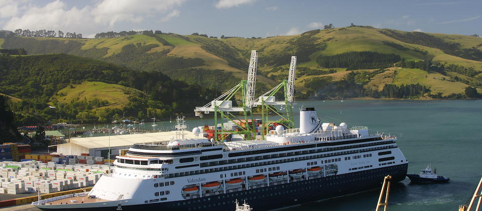 A cruise ship at Port Chalmers.