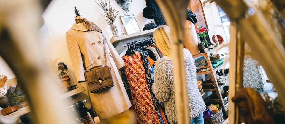 Vintage shopping at Two Squirrels