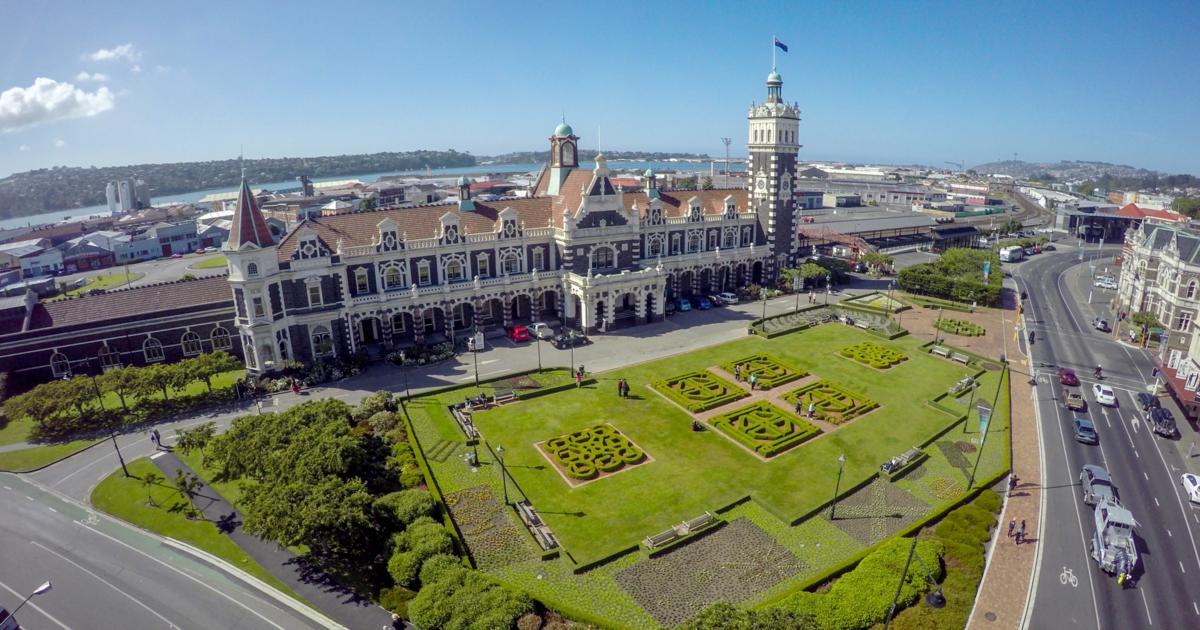 Dunedin Railway Station Dunedin Selandia Baru