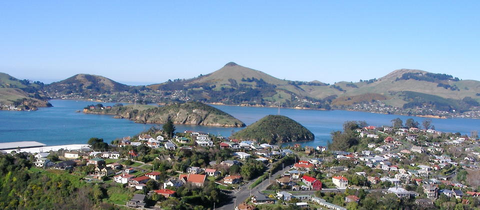 View from lookout over Port Chalmers