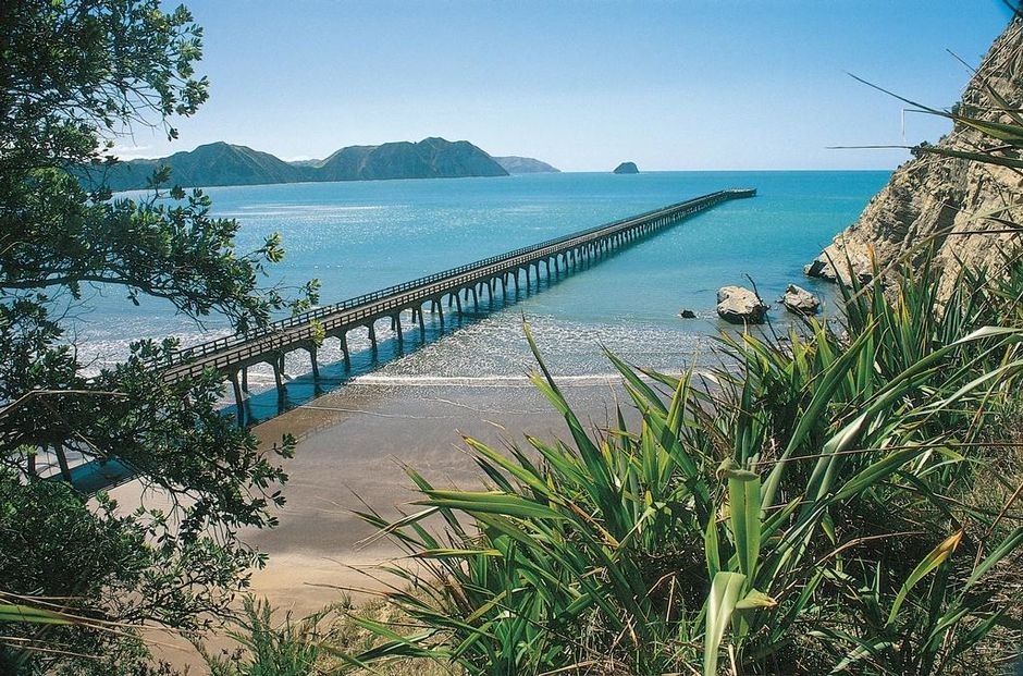 The longest wharf in the Southern Hemisphere, Tolaga Bay is a fantastic place to catch a fish.