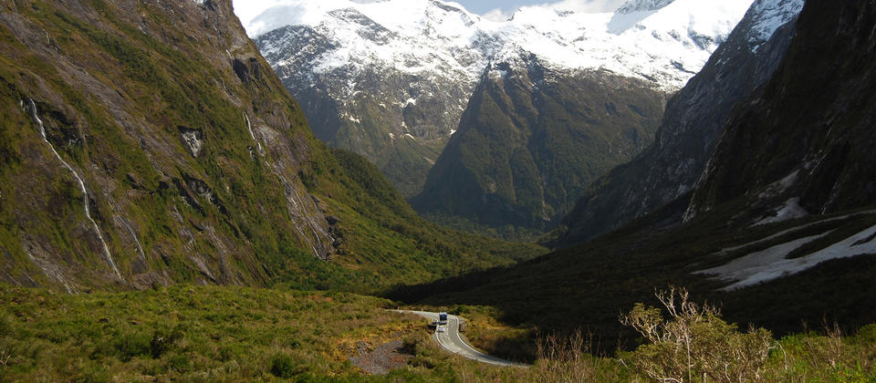 As you journey deep into the Mountain views of the Fiordland National Park, its easy to see why this is a World Heritage site.