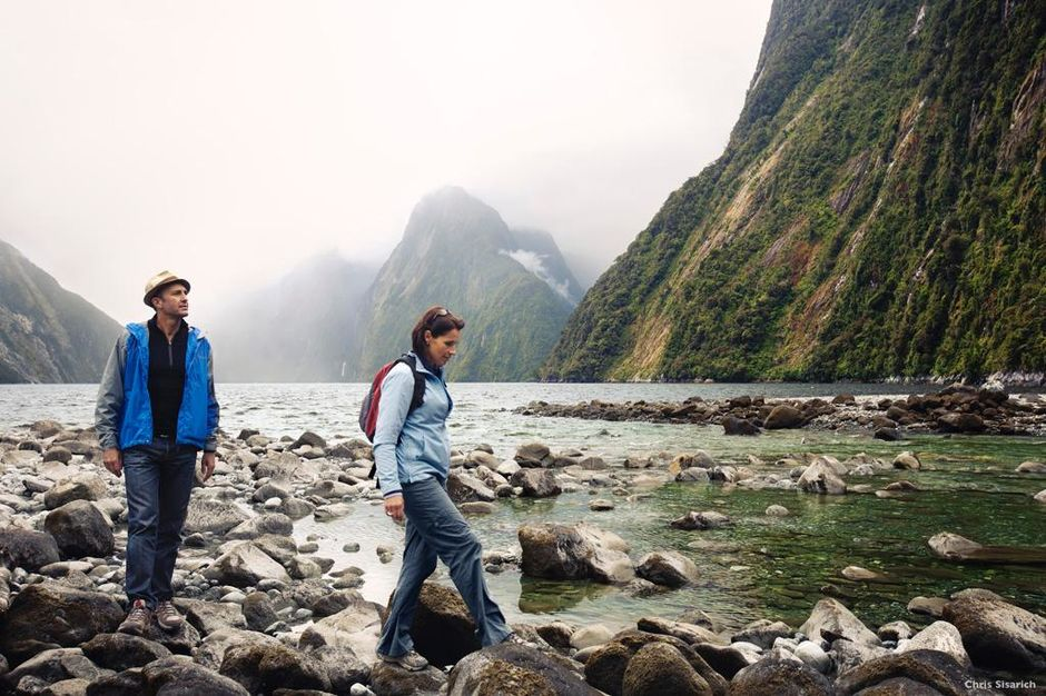 Rock-hopping, Milford Sound