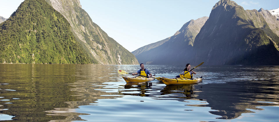 Go kayaking in Milford Sound