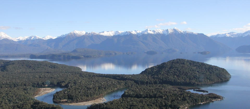 Lake Manapouri and Waiau River, Fiordland, New Zealand