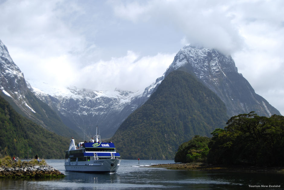 Cruising in Milford Sound.