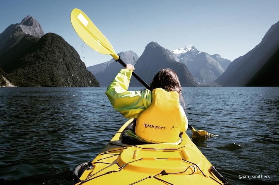 Stunning fiords, spectacular waterfalls and snow-capped peaks make kayaking in Fiordland National Park a one of a kind experience.