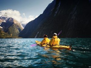 Kayak en Milford Sound