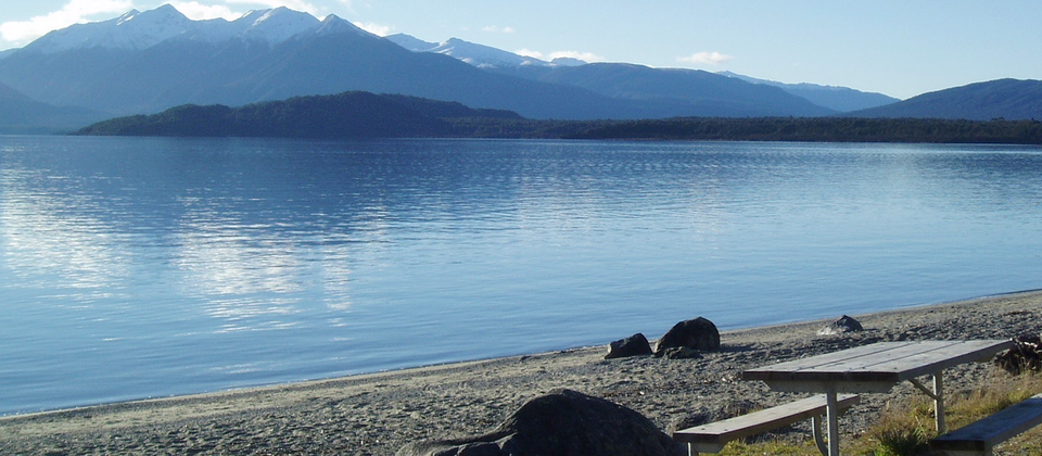 Serene Lake Manapouri in Fiordland National Park
