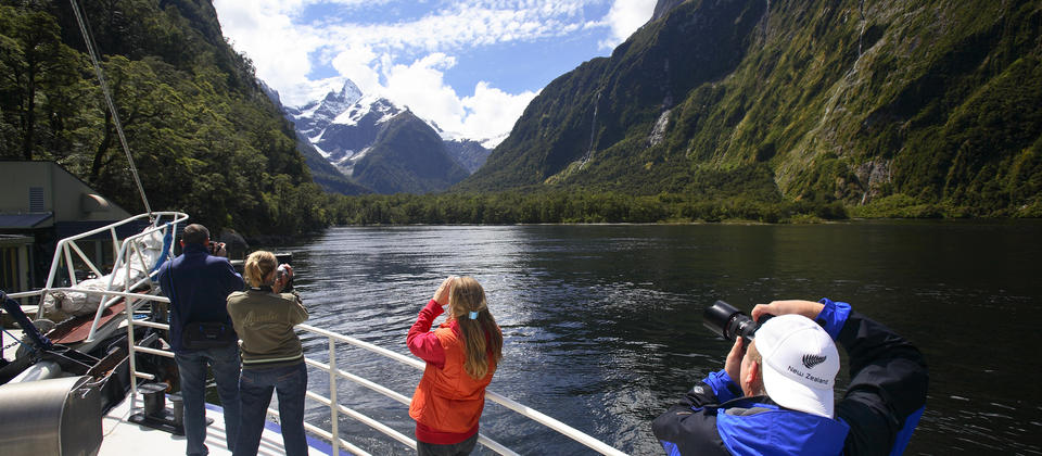 Spot wildlife up close and feel the spray of towering waterfalls with a Milford Sound boat cruise.