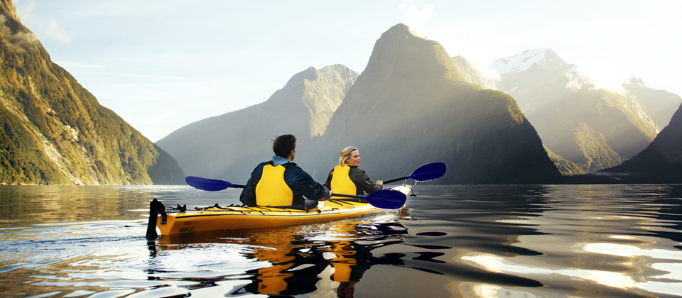 Get close to nature and learn about Milford Sound on a professional sea kayak tour.