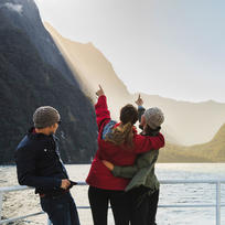 The vertical cliffs of Milford Sound were carved by ancient glaciers