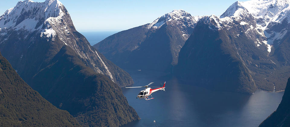 Milford Sound by air.