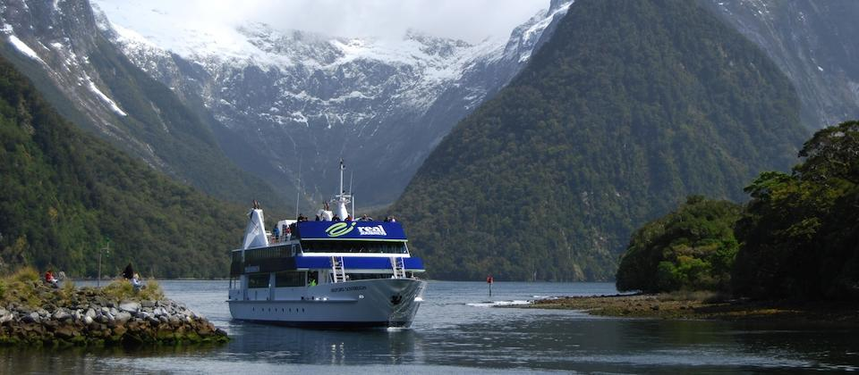 Boat trip on Milford Sound