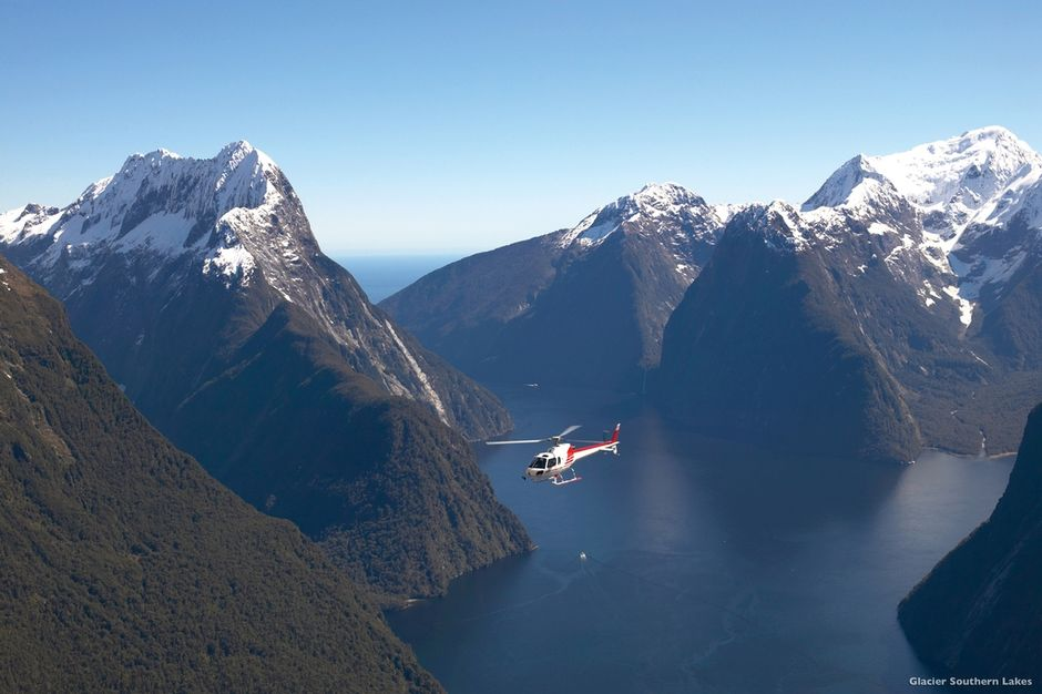 A scenic flight with Glacier Southern Lakes is spectacular