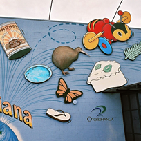 Otorohanga is famous for kiwiana - quirky art depicting New Zealand icons