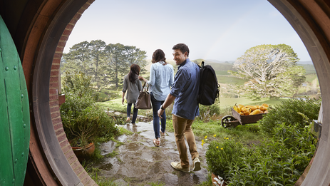 Visit the Hobbiton Movie Set south of Auckland. There are 44 Hobbit holes in total, all of which were reconstructed in 2011 for The Hobbit trilogy.