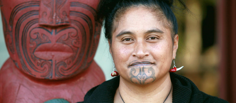 Moko were applied to the face & body. In men it could cover the whole face. The patterns on the face communicated social standing and family history.