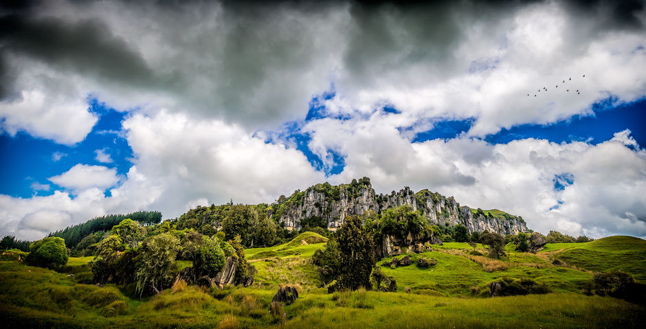 The Mangaotaki Rocks, near Piopio, featured in The Hobbit: An Unexpected Journey as Trollshaws Forest
