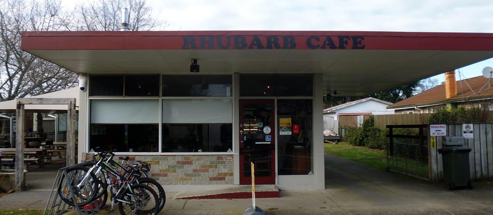 Stop by Arapuni and enjoy delicious food at Rhubarb Cafe. Get in some cycling while you're there.