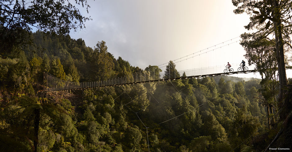 Travel through ancient forests and suspension bridges on this meandering north island trail.