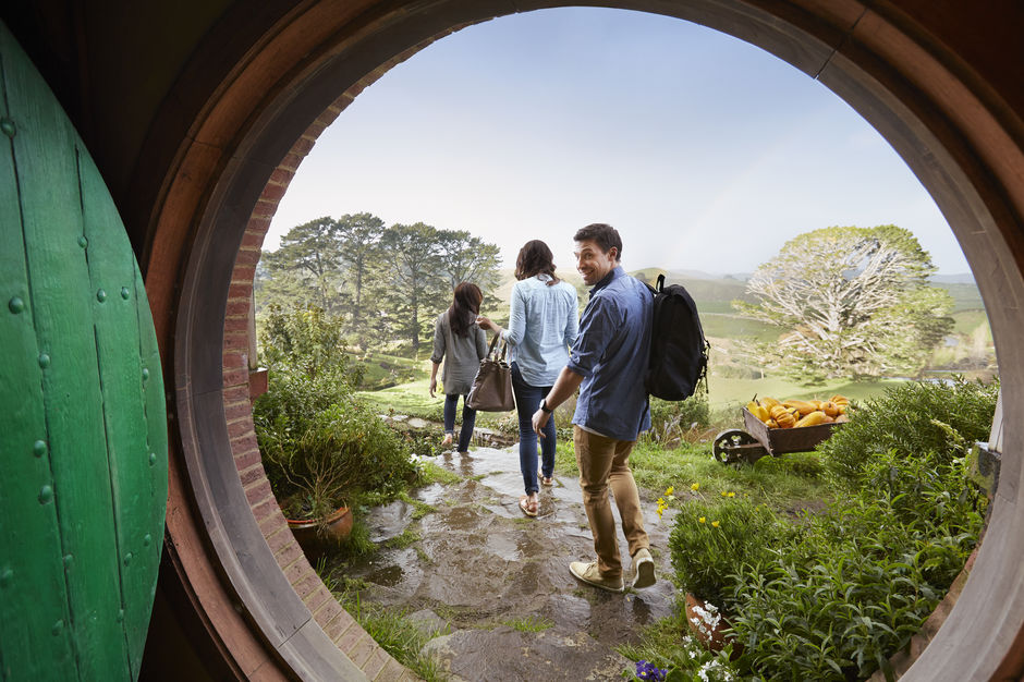 Discover the real Middle‑earth at the Hobbiton Movie Set. Peek through the famous hobbit holes on your tour.