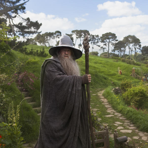 Gandalf at Hobbiton