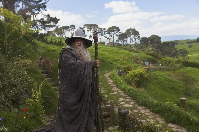 Gandalf in Hobbiton