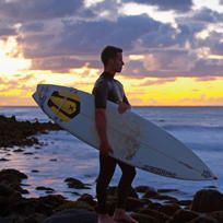 Fantastic sunsets are a built-in bonus at the west coast surf town of Raglan.