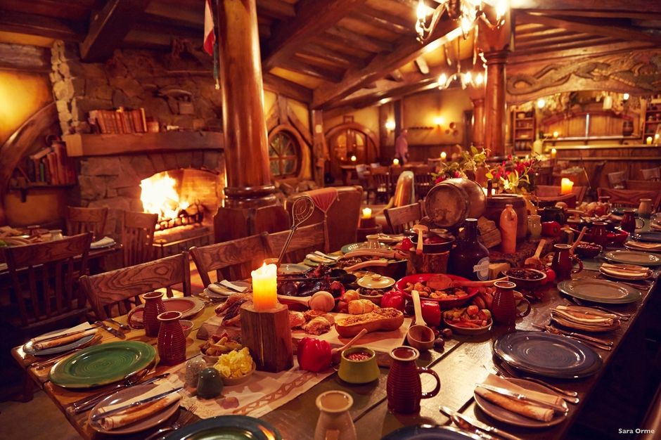Hobbiton's Green Dragon Inn is a venue that nobody will ever forget. The interior is just as you've seen it in the movies.