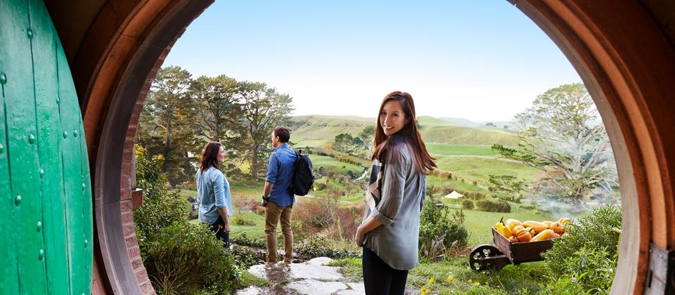 Experience the real Middle-earth with a visit to the Hobbiton Movie Set in Matamata, just two hours south of Auckland.