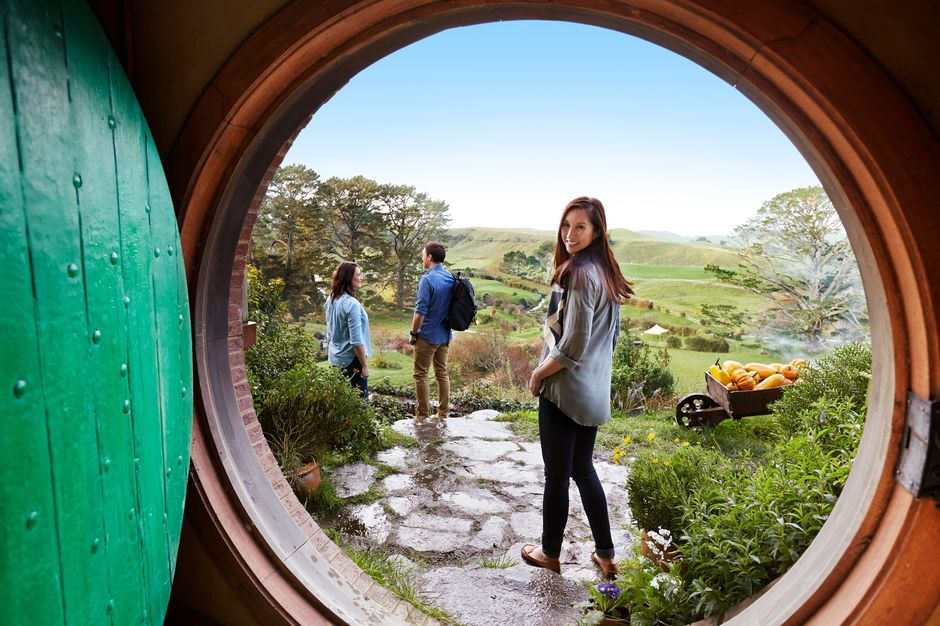 Visit the Hobbiton™ Movie Set south of Auckland. There are 44 Hobbit holes in total, all of which were reconstructed in 2011 for The Hobbit trilogy.