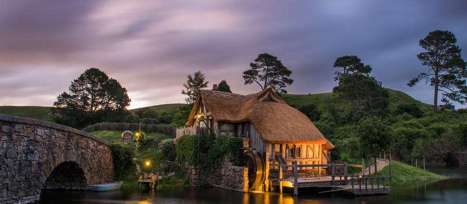 The Mill wedding venue at Hobbiton Movie Set