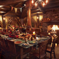 The Green Dragon Inn at Hobbiton.
