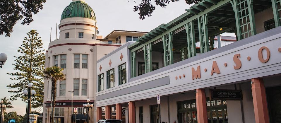 The Art Deco Masonic Hotel, Napier