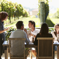Dine among the vines at the beautiful Black Barn Vineyard.