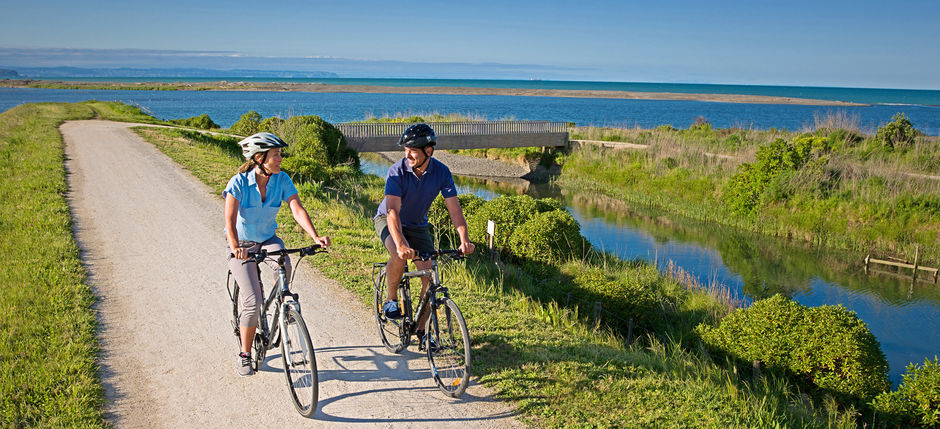 Ride alongside scenic seaside views between Napier and Clifton the Hawke's Bay Trails.