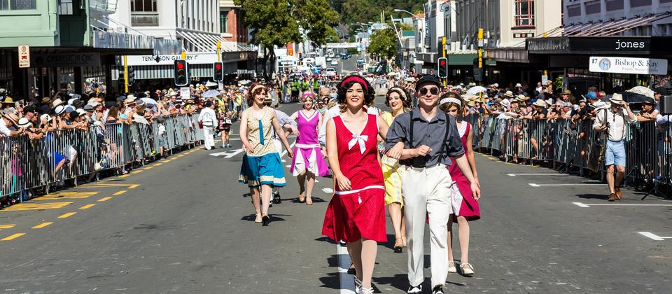 Enthusiasts celebrate the 1920s and 1930s at Napier's annual Art Deco Festival