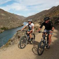 Riding through Roxburgh Gorge