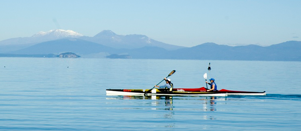 There's many pretty bays and coves to explore on Lake Taupo.